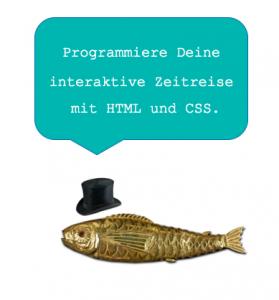 Fisch mit Hut lädt zum Programmieren ein